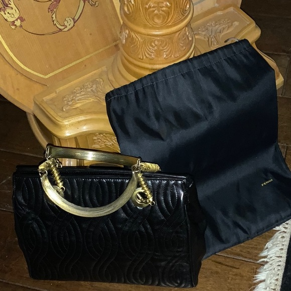Fendi Black Quilted Leather Satchel